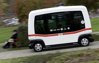 В Детройте появился фиксированный маршрут для беспилотных автобусов