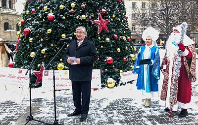 Правительство Москвы подарило Софии на Новый год 13-метровую ель