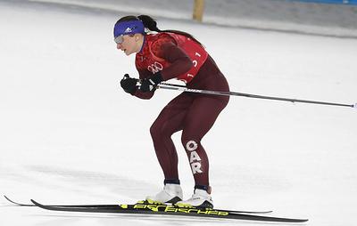 Лыжница Непряева заняла третье место в гонке с раздельным стартом на этапе Кубка мира