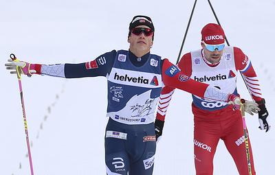 Вяльбе считает, что лыжник Устюгов заслуженно получил желтую карточку за толчок Клебо
