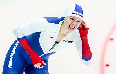 Конькобежка Качанова назвала ожидаемым третье место в забеге на 1000 м на ЧМ в Херенвене