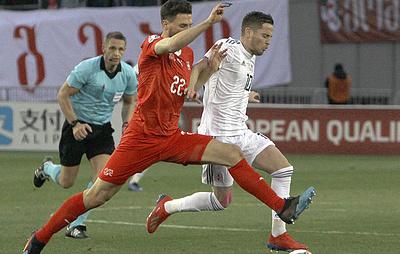 Футболист сборной Грузии Ананидзе оказал медицинскую помощь швейцарцу во время матча