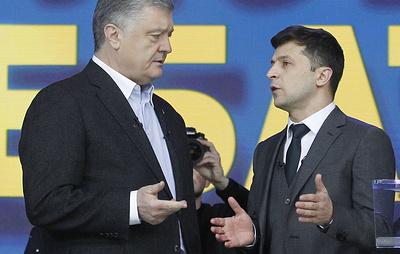 Шоу так и не стало дискуссией. В Киеве прошли дебаты Порошенко и Зеленского