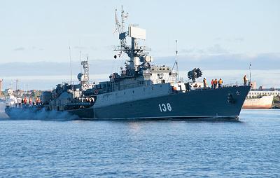 """Малый противолодочный корабль """"Нарьян-Мар"""" провел учения в Белом море"""
