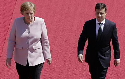 Меркель почувствовала недомогание во время встречи с Зеленским