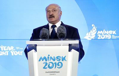 Лукашенко на открытии II Евроигр призвал перенести политические баталии на спортплощадки