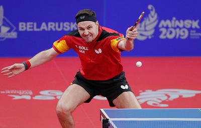 Немец Болль завоевал золото Европейских игр по настольному теннису