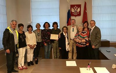 """Делегация испанских """"детей войны"""" посетила офис ТАСС в Петербурге"""