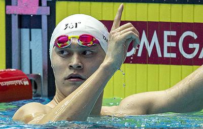 Китайский пловец Сунь Ян победил на дистанции 400 м вольным стилем на чемпионате мира