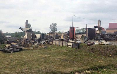 Источник: шесть домов сгорели в ближайшей к месту взрывов деревне под Ачинском