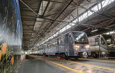 """Тематический поезд """"Щукин. Биография коллекции"""" запустили на Кольцевой линии"""