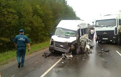 Восемь человек пострадали в ДТП с микроавтобусом под Тамбовом