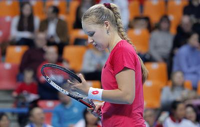 Россиянка Блинкова не смогла выйти в полуфинал теннисного турнира в Бронксе