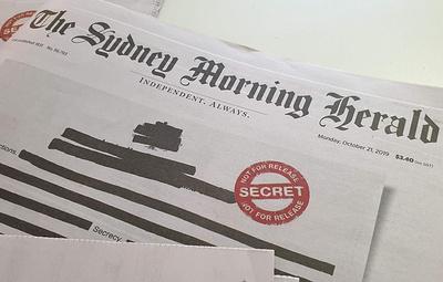 Ведущие австралийские СМИ приняли участие в акции за свободу слова в стране