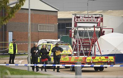 В британской полиции считают, что грузовик с 39 трупами прибыл в Эссекс из Бельгии