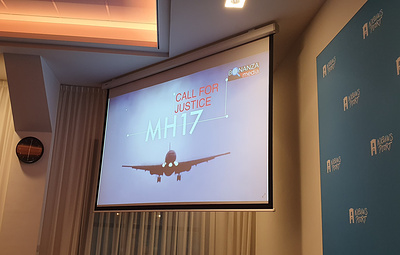 """В Гааге показали фильм """"Катастрофа MH17: ждем справедливого расследования"""""""