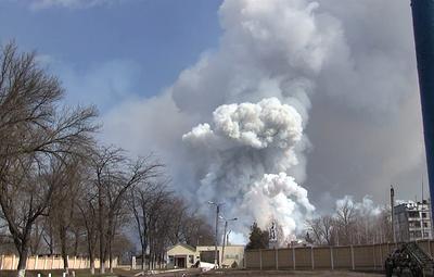 Количество раненых при взрыве на военных складах в Харьковской области увеличилось до пяти
