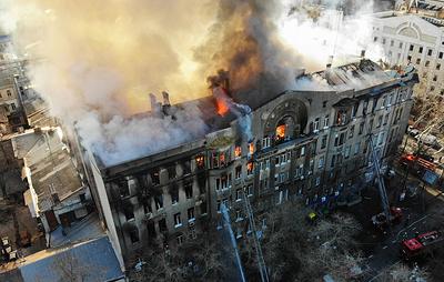 Число погибших при пожаре в Одесском колледже возросло до 10