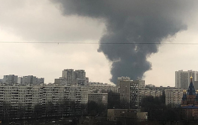 Пожар повышенной сложности возник на складе на юге Москвы