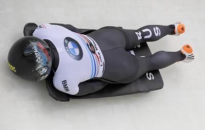 Скелетонистка Никитина завоевала золотую медаль на этапе Кубка мира в США