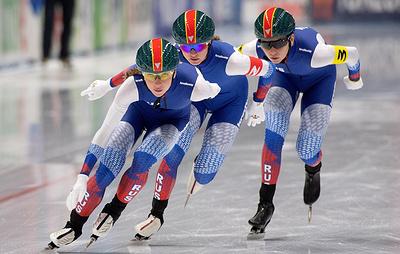 Российские конькобежки стали вторыми в командной гонке преследования на ЧЕ в Нидерландах