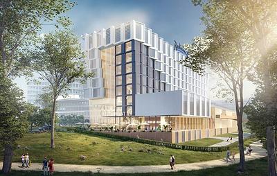 Гостиничный комплекс с геометричным фасадом построят на Ленинском проспекте в Москве