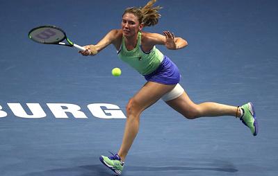 Теннисистка Александрова проиграла Бертенс в полуфинале турнира в Санкт-Петербурге
