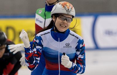 Просвирнова стала третьей на дистанции 1000 м на этапе КМ по шорт-треку в Нидерландах