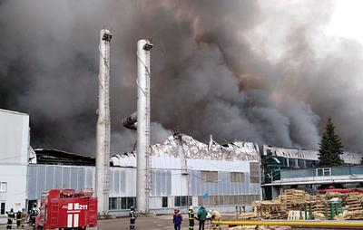 Крупный пожар на складе в Подмосковье полностью ликвидирован