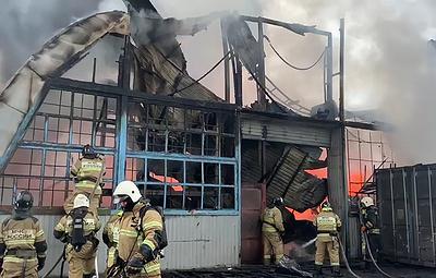 Пожар на складе с пластиком в Ростовской области локализовали