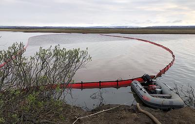 Емкости на 8 тыс. кубометров завезли под Норильск на место ликвидации ЧП