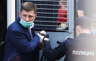 Фургала доставили в Басманный суд, где будет рассматриваться вопрос об аресте