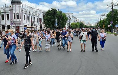 В Хабаровске завершилась несанкционированная акция в поддержку Сергея Фургала