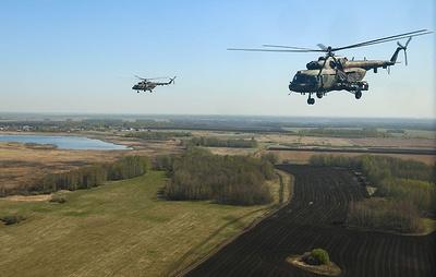 Вертолетчики ЦВО под Курганом провели учения по уничтожению противника и эвакуации раненых