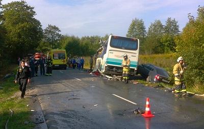 Число пострадавших в ДТП с автобусом в Калининградской области увеличилось до 14