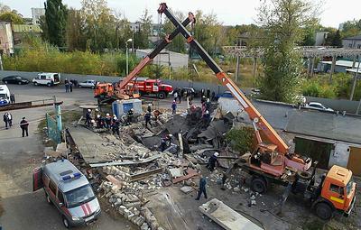 Обрушение гаражей произошло после взрыва газового баллона в Тамбовской области