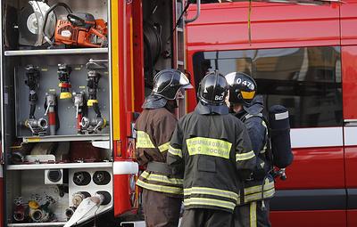 Пожар произошел на территории студенческой поликлиники в Челябинске
