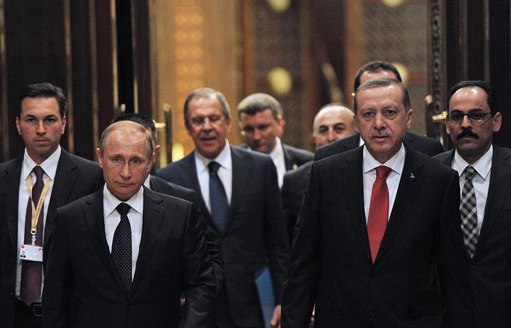 Президент России Владимир Путин и президент Турции Реджеп Тайип Эрдоган, 2014 год