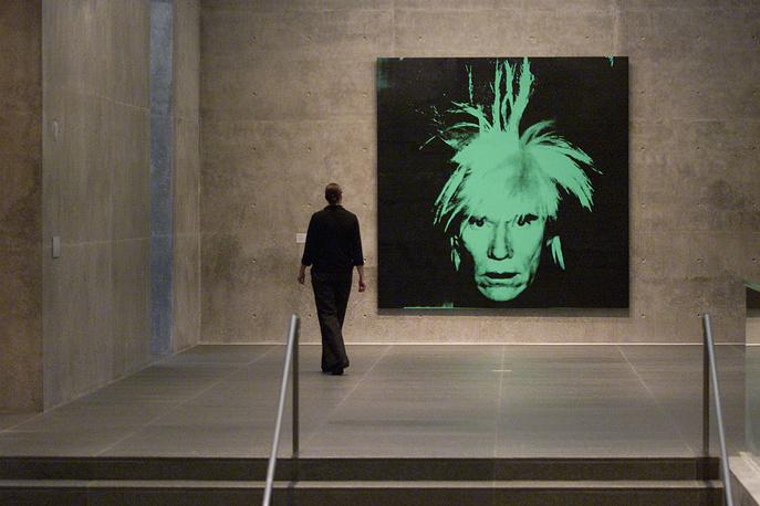 """""""Автопортрет"""" Энди Уорхола на выставке в Техасе, 2002"""