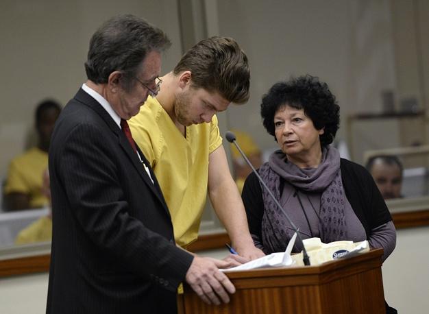 Семен Варламов в зале суда. AP Photo/The Denver Post, RJ Sangosti, Pool