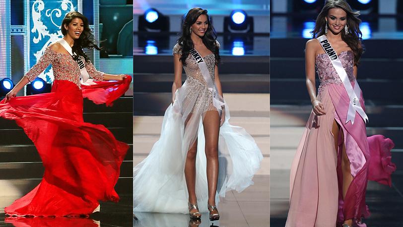 Мисс Перу, Мисс Турция, Мисс Польша. Фото EPA/SERGEI ILNITSKY