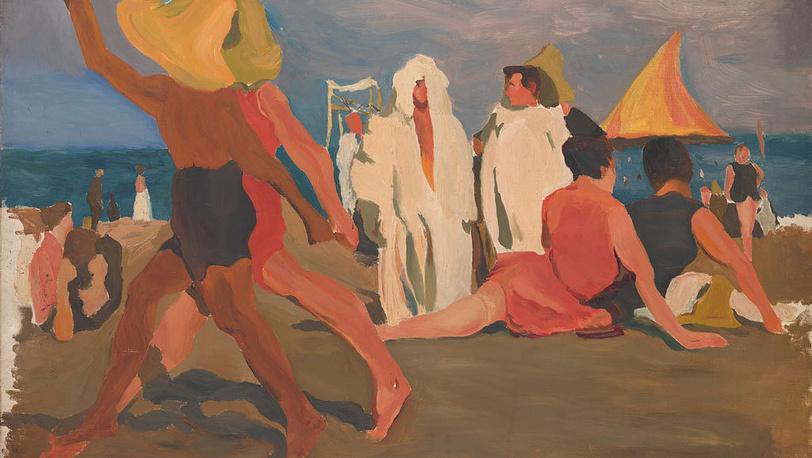 """Леон Бакст. """"Купальщики на Лидо"""". 1909."""