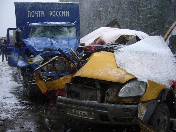 На месте аварии