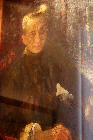 """""""Портрет А.Ф. Керенского"""". Илья Репин. Линолеум, масло, 1918 год"""