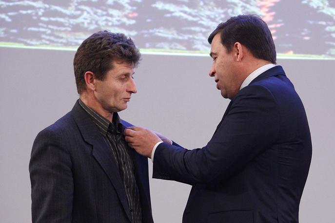 Церемония награждения медалями за спасение погибавших