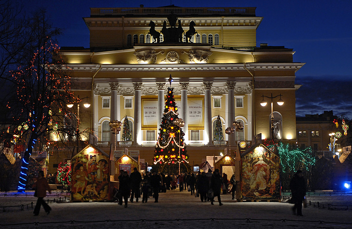 Новогодняя елка у Александрийского театра, 2007 год.