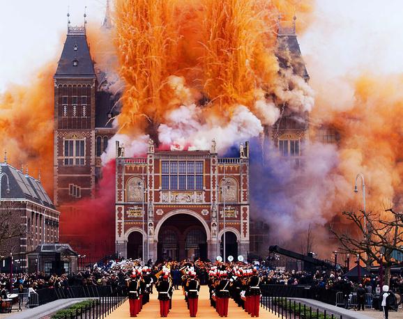 Торжественное открытие Государственного музея в Амстердаме после 10-летней реконструкции. 13 апреля 2013 года
