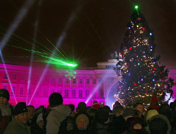 Новогодняя ель на Дворцовой площади, 2005 год.