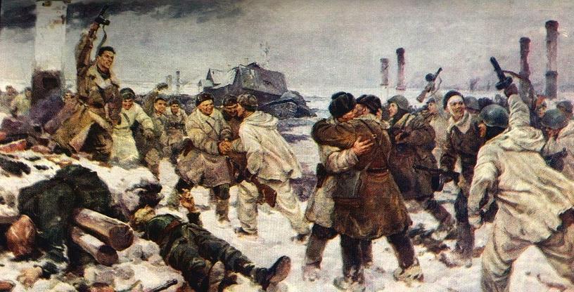 Прорыв блокады Ленинграда.18 января 1943 года.