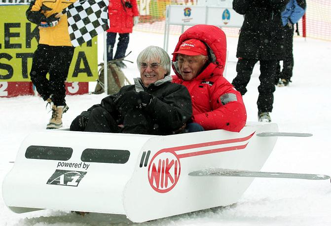 Берни Экклстоун и австрийский автогонщик Ники Лауда, 2005 г.